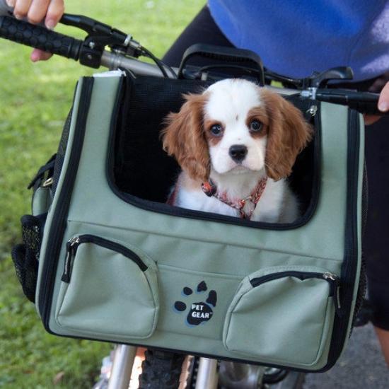 Pet Gear Bike Basket 3-in-1P et Carrier In Sage