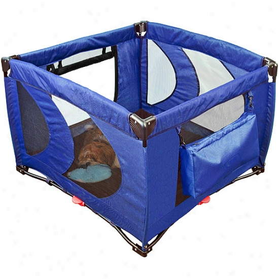 Pet Gear Pg4400nt Home 'n Go Pet Pen - Cobalt Blue
