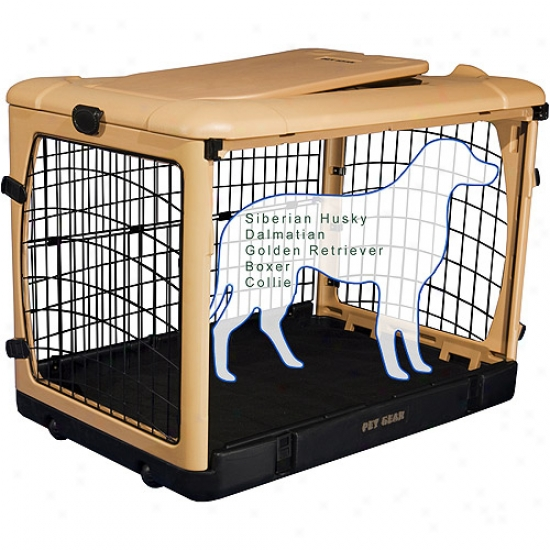 Pet Gear Pg5942tn Deluxe Steel Dog Crate With Pad - Large