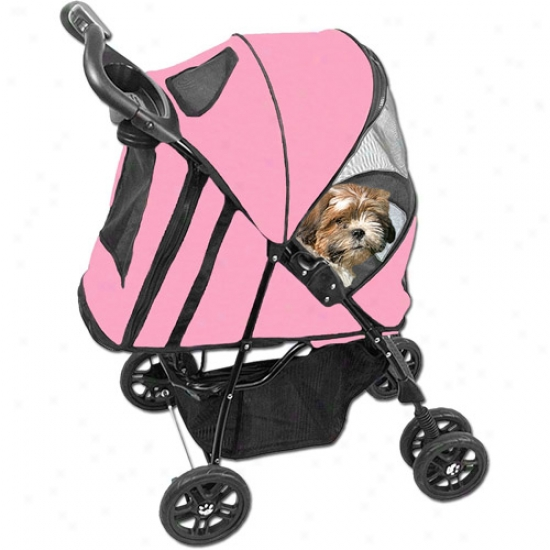 Pet Array Pink Coat  Happy Trails Plu Pet Stroller
