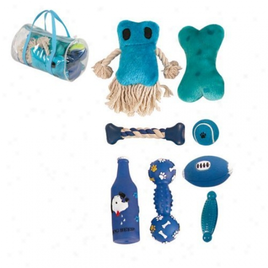 Pet Animated existence 8-piece Duffle Pet Dog Toy Set - Blue