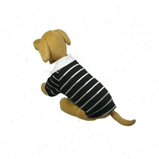 Pet Life Fashion Collared Striped Polo T-shirt On account of Dogs