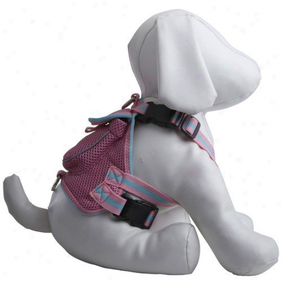Pet Life Fashion Mesh Dog Tackling With Back Pouch