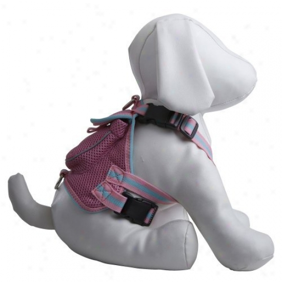 Pet Life Mesh Harness With Pouch