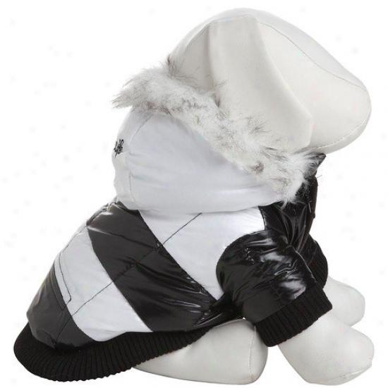 Pet Life Striped Fashion Dog Parka With Removeable Hood