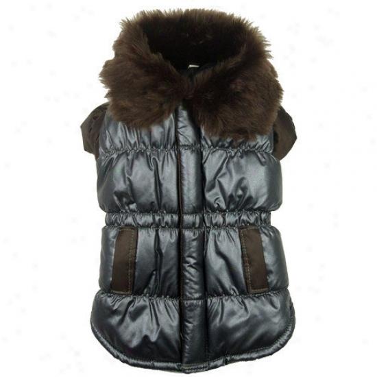 Pet Life Ultra Fur Collar Metallic Dog Jacket