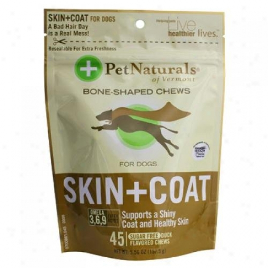Pet Naturals Of Vermont Skun And Cover For Dogs Duck 45 Soft Chews