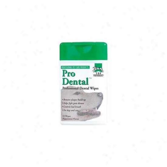 Pet Pals Tp134 70 Top Performance Prodental Dental Wipes 70-pkg