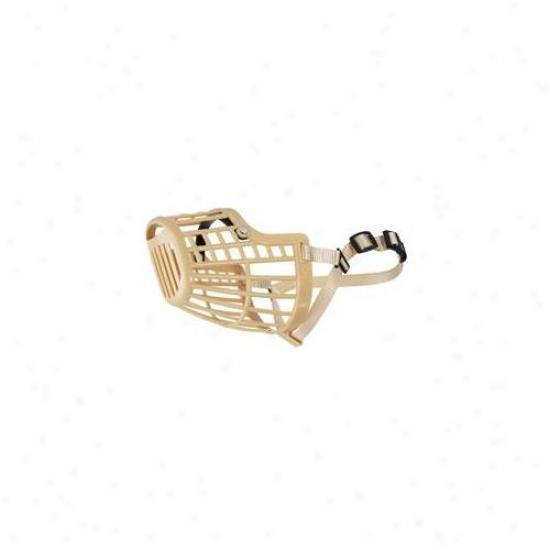 Pet Pals Za693 07 15 Guarduan Gear Basket Muzzle Med 12 In Beige