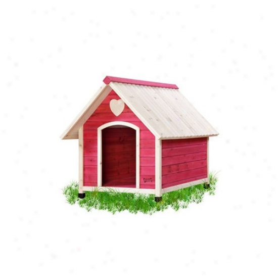 Pet Squeak Arf Frame Dog House In Pink