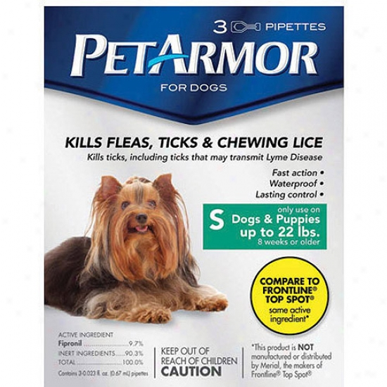Petarmor Flea & Tick Prktection For Dogs Up To 22 Lbs, 3-month Supply