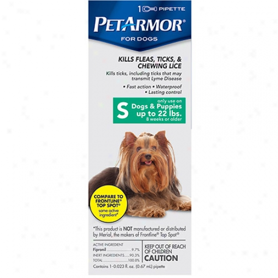 Petarmor Flea ∓ Tick Protection For Dogs Up To 22 Pounds, 1 Month Supply