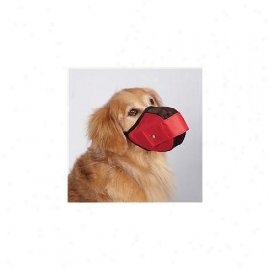 Petedge Zx2015 18 83 Gg Fabric Mesh Muzzle Large 13 In Red