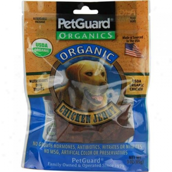 Petguard Organics Chicken Jerky Treats For Dogs Case Of 6 3 Oz