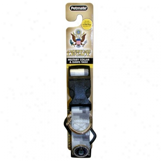 Permate Aspen Pet 0320085 1-inch Air Force Camouflage Collar - Gray