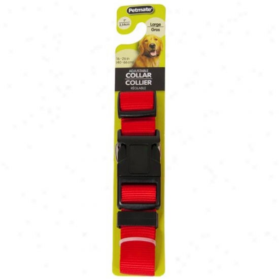 Petmate Aspen Pet 0327816 1-inch X 16-inch To 26-inch Adjustablr Colllar - Red