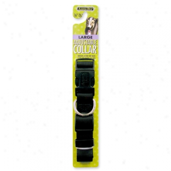 Petmate Aspen Angry mood 0327818 16-inch To 26-inch X 1-inch Adjustable Large Dog Collar - Black