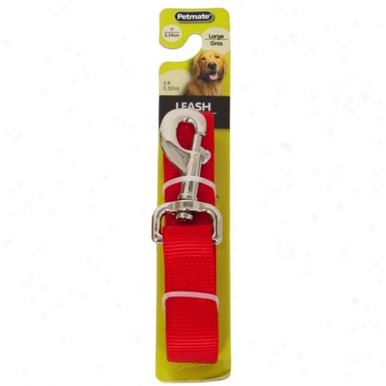 Petmate Aspen Pet 0327851 1-inch X 5-foot Lead Leash - Red