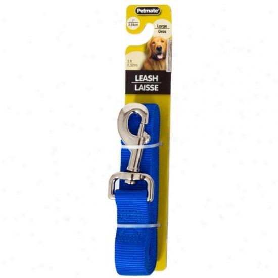 Petmate Aspen Pet 0327852 1-icch X 5-inch Dog Leash - Royal Blue