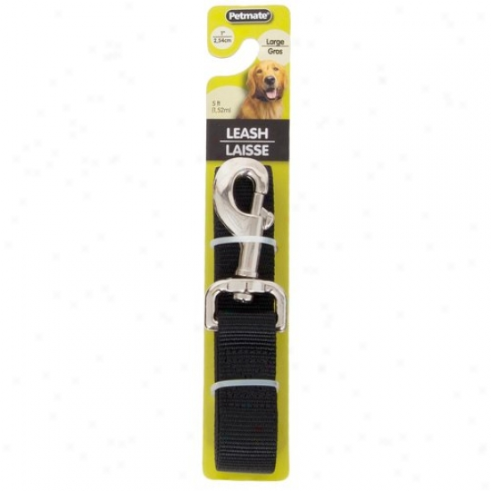 Petmate Aspen Pet 0327853 1-inch X 5-foot Lead Leash - Black