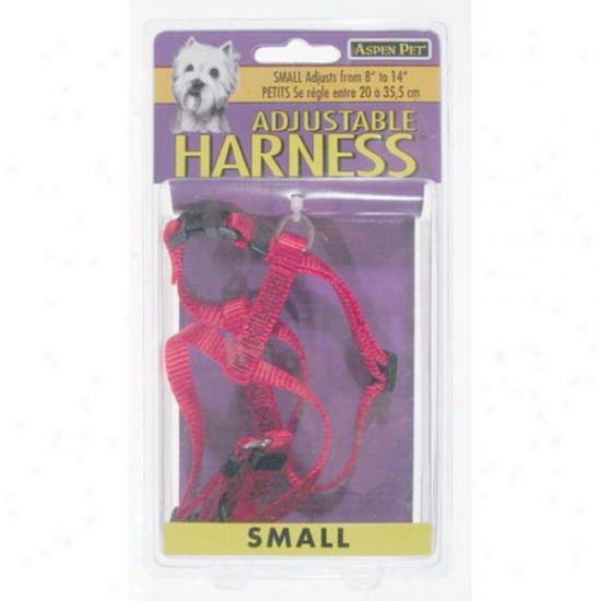 Petmate Aspen Pet 27220 3/8-inch X 8-inch To 14-inch Adjustable Harness - Red