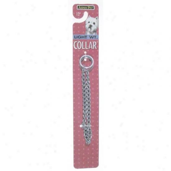 Petmate Aspen Pet 3027890 22-inch Heavy Weight Chain Collar