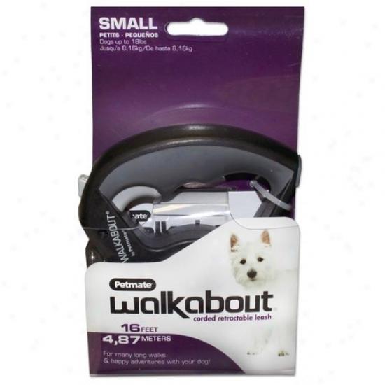 Petmate Aspen Pet 324285 Walkabout Corded Retractable Leash - Small