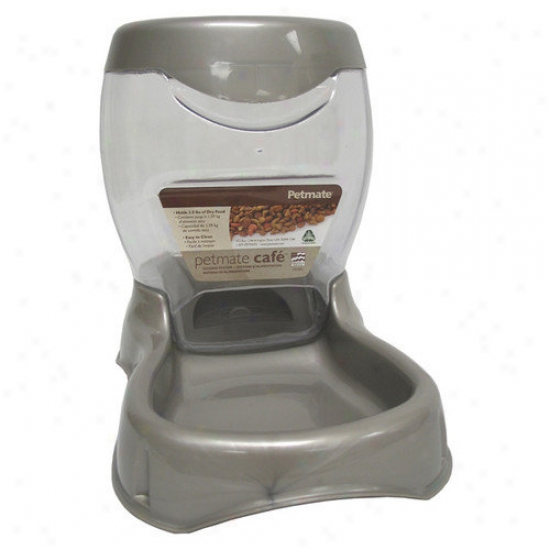 Petmate Cafe Pet Feeder In Pearl Tan