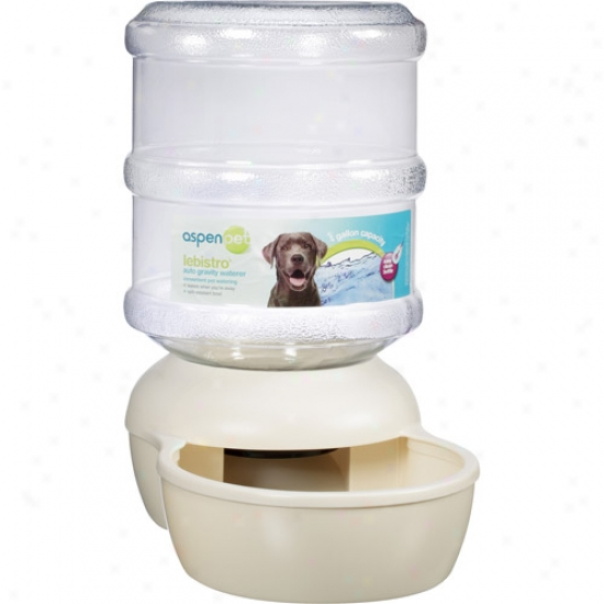 Petmate Ptm24578 Lebistroo Waterer Extra Large 4 Gallons Bleached Linen 10. 3 Inch X 17. 2 Inch X 17. 9 Inch