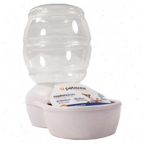 Petmate Replendish Pet Waterer With Microban In Pearl Of a ~ color