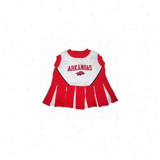 Pets First Arclo-xs Arkansas Razorbacks Cheer Leading Xs