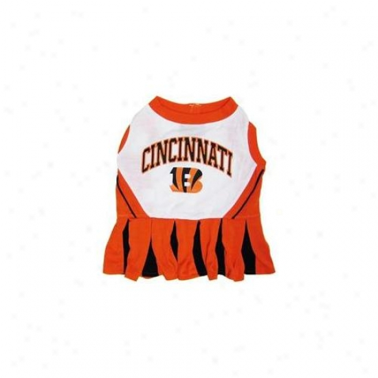 Pets First Cnbclo-m Cincinnati Bengals Nfl Dog Cheerleader Outfit - Medium