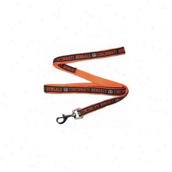 Pets First Cnbl-l Cincinnati Bengals Nfl Dog Leash - Large