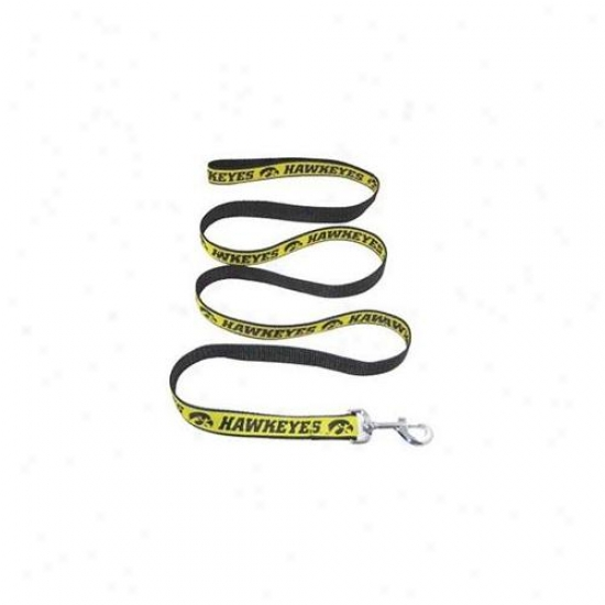 Pets First Ihl-l Iowa Hawkeye Leash Large