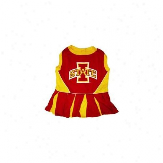 Pets First Isclo-xs Iowa Statte Cyclone Cheer Leading Xs