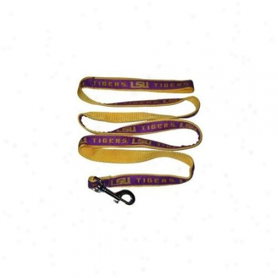 Pets First Lsul-m Lsu Tigers Leash Medium