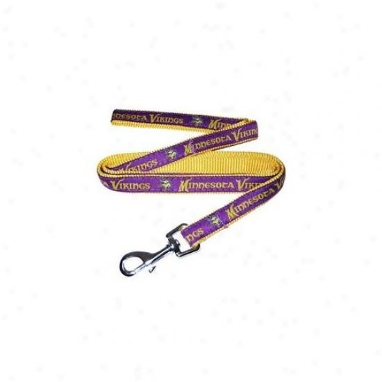 Pets First Mvl-l Minnesota Vikings Nfl Dog Leash - Large