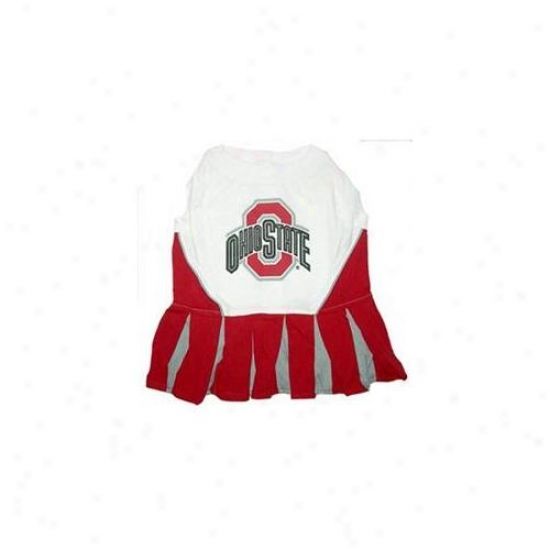Pets Fi5st Osclo-m Ohio Satte Buckeyes Cheer Leading Md
