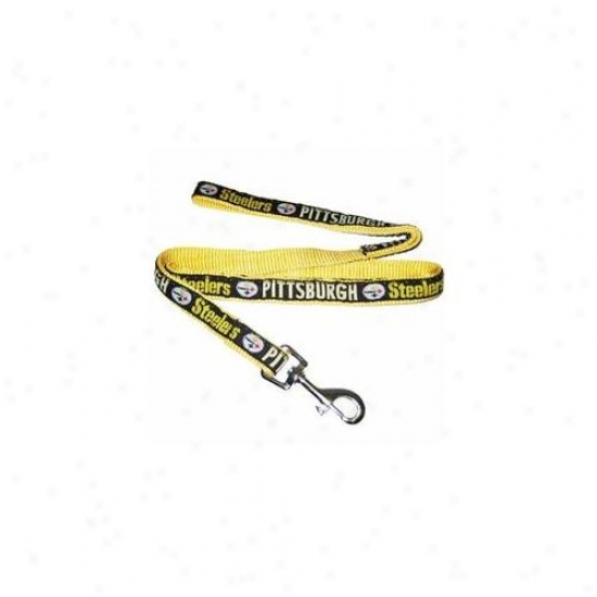Pets First Pstl-m Pittsburgh Steelers Nfl Dog Leash - Medium