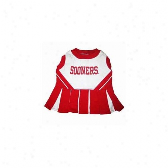 Pets First Uoclo-xs Oklahoma Sooners  Cheer Leading Xs
