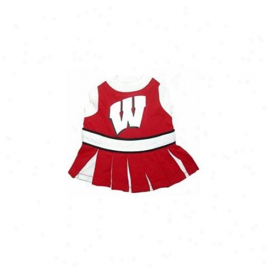 Pets First Wbclo-xs Wisconsin Badgers Cheer Leading Xs