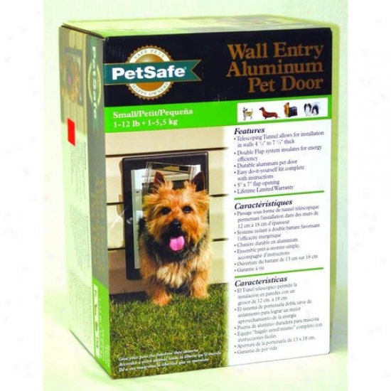 Petsafe Ppa11-10915 Wall Entry Aluminum Dog Door