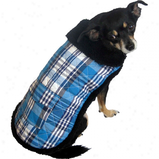 Plaid Blue Dog Coat (multiple Sizes Available)