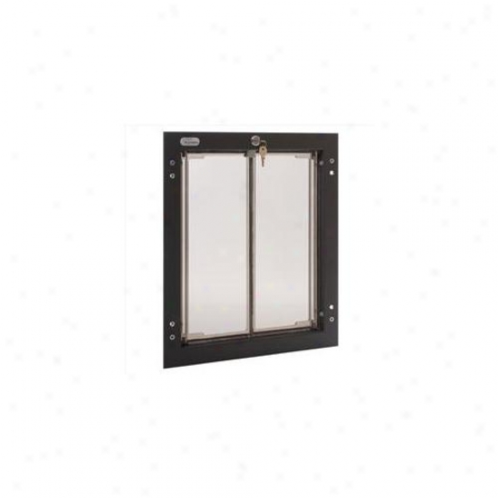 Plexidor Performance Pet Doors Pd Door Lg Br Large Dog Door Mount - Bronze