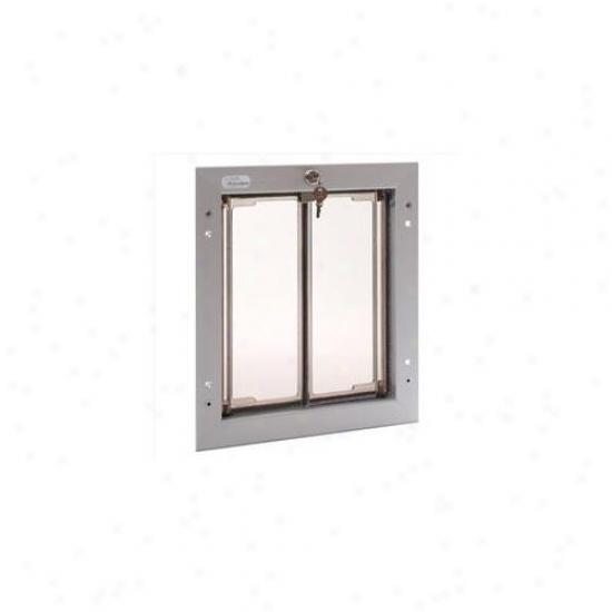Plexudor Performance Pet Doors Pd Door Md Sv Medium Dog Door Embellish - Silvery