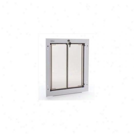 Pleicdor Performance Pet Doors Pd Wall Lg Wh Extensive Dog Passage Flap Wall Mount - White