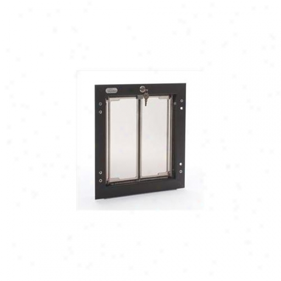 Plexidor Performance Pet Doors Pd Wall Md Br Medium Dog Door Flap Wall Mountain - Bronze