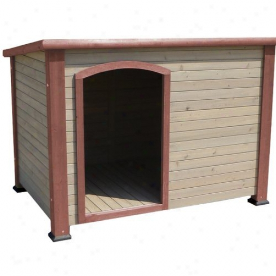 Precision Extreme Oytback Log Cabin Dog House - Terra Cotta