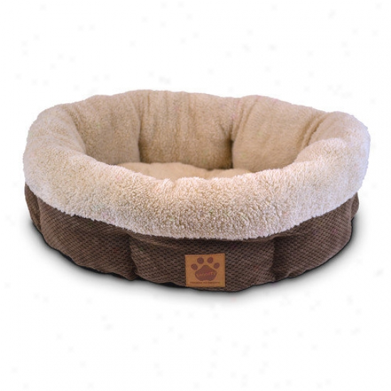 Precision Pet Products Natural Surroundings Shearling Round Dog Bed