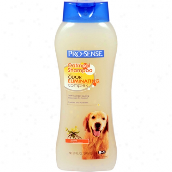 Pro-sense Oatmeal Vanilla Scent Dog Shampoo With Odor-eliminating Cpmplex, 20 Oz
